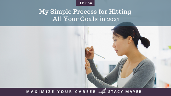 Blog art - My Simple Process for Hitting All Your Goals in 2021