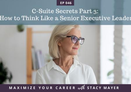 Maximize Your Career with Stacy Mayer, C-Suite Secrets, C-Suite Secrets Part 3, CEO Mindset, episode art